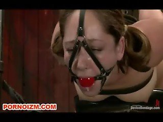 Lesbian Slave Remy Chained Tormented and Suspended