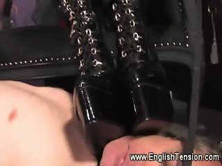 Mistress smokes and do some trampling