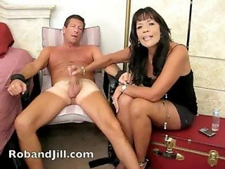 CFNM Handjob Training with Post Orgasm Torture