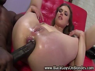 Watch interracial blonde bitch