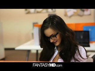 FANTASYHD Office secretary gets fucked by the boss