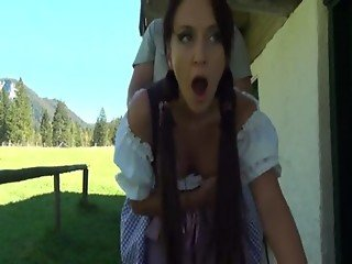 European country girl gets bend over the table and fucked (by site Free)