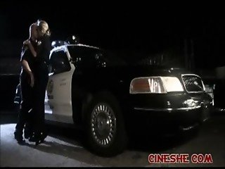 Both Police Woman and Man On Car KJ Tyler Faith