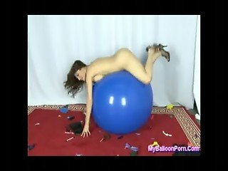 Kymberly Jane in Balloon Popping Secretary