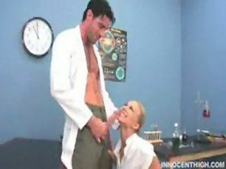 pissed professor stucked his cock to Melanie Jaynes noisy mouth