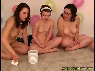 All girl lesbian real party