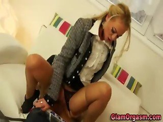 This european classy blonde loves dick