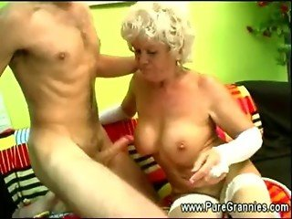 Hot grandma sucks and fucks
