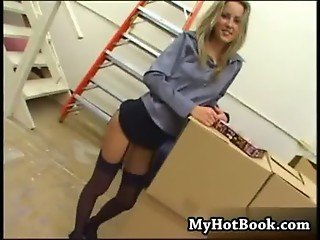 Margo a sexy blue eyed blonde with a perfect pair