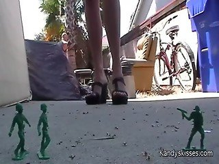 Stomping Army men Fetish