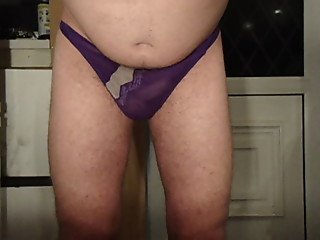 me pissing through the wife's panties and drinking it