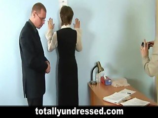 The first job interview for young secretary