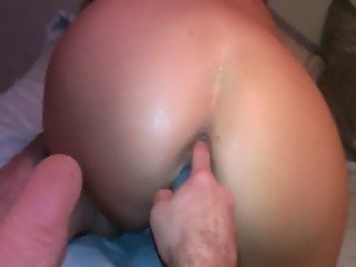 First time ass fingering and toying part 1
