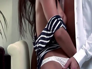 Raven centerfold gets drilled by her man