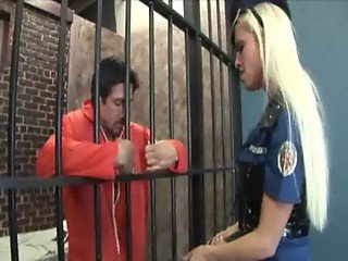 titty blonde babe banged in prison