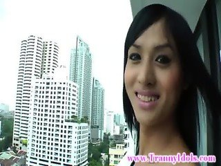 Ladyboy amateur tranny in lingerie wants some action