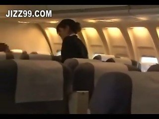 stewardess hard blowjob by plane geek