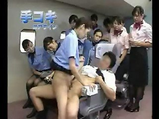 Asian air stewardess fuck