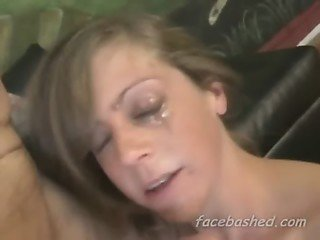 Amateur girl extreme rough throat fuck and gagging