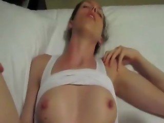 Brunette Has POV Missionary Sex With Pussy Cumshot