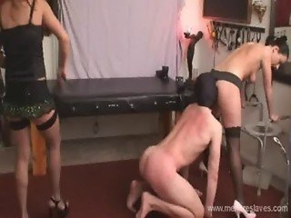 Femdom - Two Dominas in ass worship