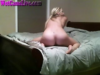 Hot Blonde Dirty Talk Fingers Her Pussy Part 4