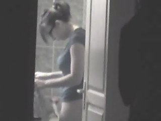 Hidden Spycam Cam in Shower Dressing