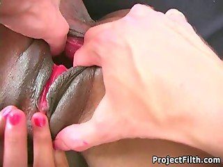Ebony Skank Pussy And Ass Stretching