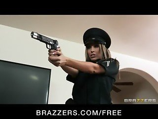 Big-boobed dirty-cop Courtney Cummz is fucked and punished