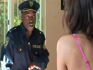 Babe interracial Forced fuck by Police Officer