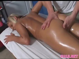 Girl blowing during massage