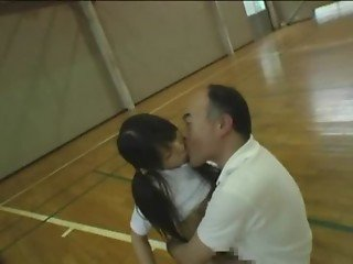 Naive Japanese schoolgirl (18 ) abused by her trainer