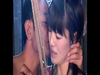Ladyboy fucked with candles and rope