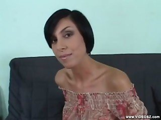 Wonderful POV show starring a smiling Hungarian beauty