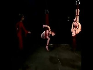 Slaves hang on the ceiling get violated