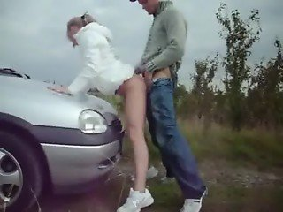 Sex in Public park-this car-creampie