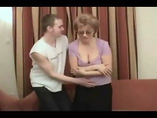 Russian mom fucked by MILF lover