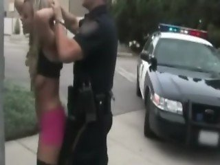 Bree olson in the back of police car wanting this uniform