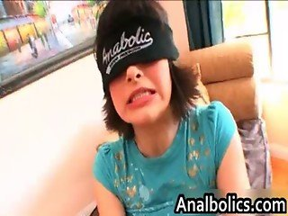Blindfolded Anabolic teen gets her
