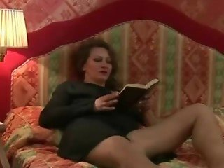 Hairy Bush Mature Russian MILF and Boy