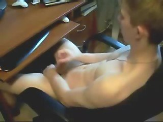 caught twink masturbating