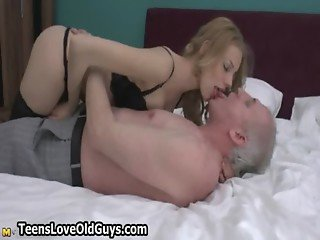Dirty old man gets pleased by this cute