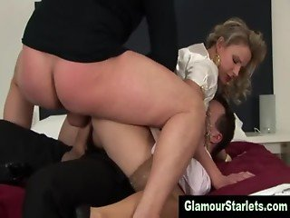 Glam clothed sexy whore