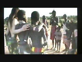 Japanese girl in Africa, genuine tears crying fuck by tribe man
