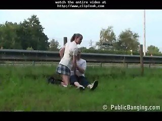 Public - Public Sex Couple Right By A Highway