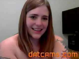 Young chubby US nympho girl masturbating on bed in front of cam datcams.com