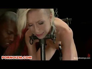 Latex Slave Chained to e Torments Chair