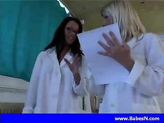 Naughty nurses doing their job with big cock
