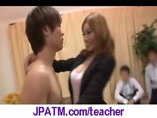 Nasty Japanese Teachers Banged In Classroom - vid 17