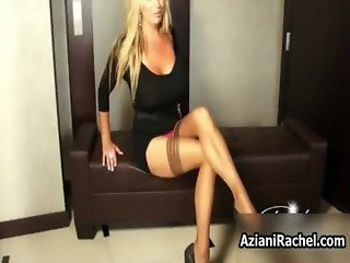 Rachel Aziani with her big tits showing
